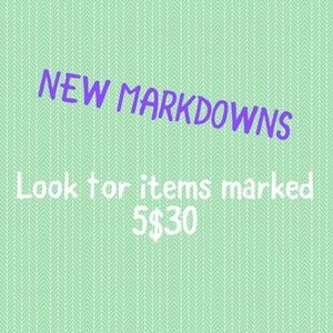 5/$30 New Markdowns
